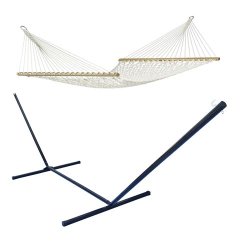 Rope Hammock Chair Stand Outdoor Swing Chair Cotton Bed Rope Hammock Metal