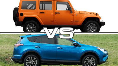 jeep liberty vs wrangler 2016 toyota rav4 vs 2016 jeep wrangler