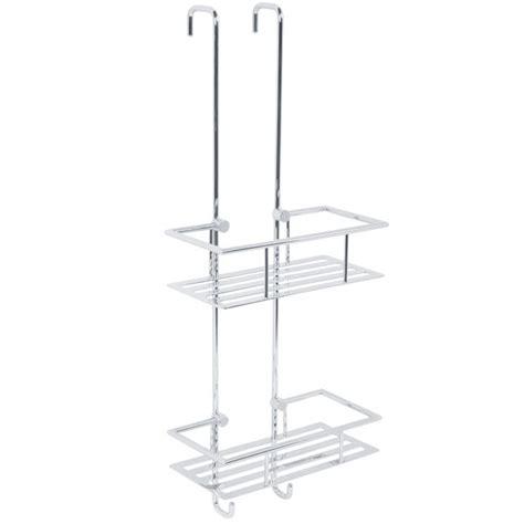 hanging bathroom baskets cromo two shelf hanging shower basket