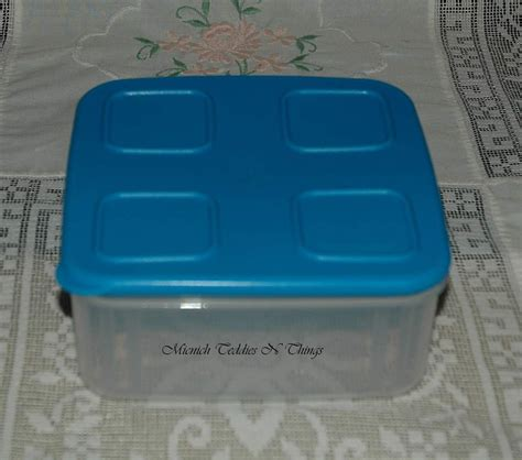 Tupperware Medium Square tupperware clear mates medium square size 2 container blue