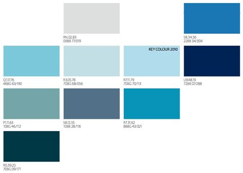 types of blue color different shades of blue trendey