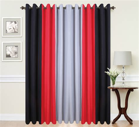 red grey and black curtains eyelet curtains ring top fully lined pair black ready made