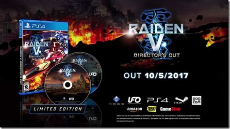Raiden V Director S Cut Limited Edition raiden v director s cut western debut set for october 5 2017 siliconera