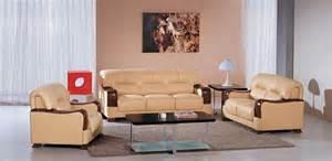 beige sofa set beige color leather sofa set with wooden accents riverside