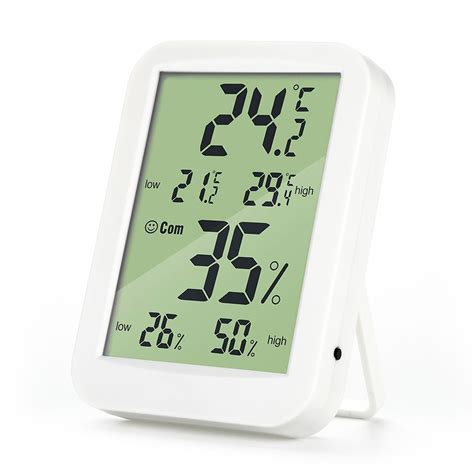 Dc 801 Digital Hygrometer Temperature Meter Calendar Lcd Clock 1 loskii dc 07 digital temperature hygrometer alarm clock weather forecast trends calendar