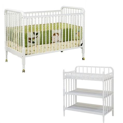 White And Wood Crib Davinci Lind 3 In 1 Stationary Convertible Mobile