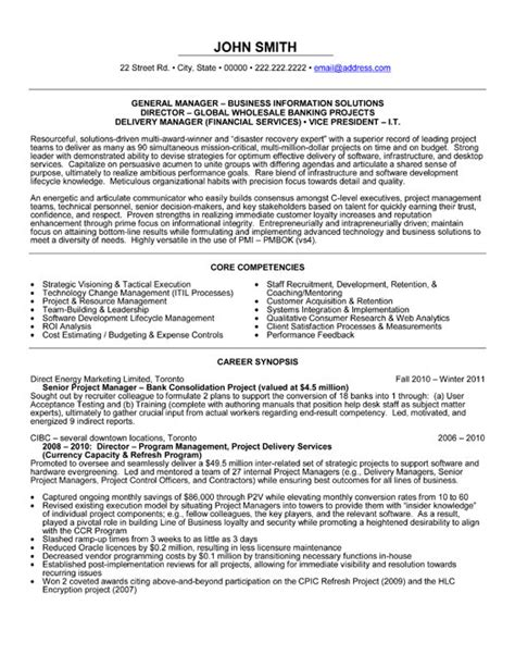 general manager resume template premium resume sles