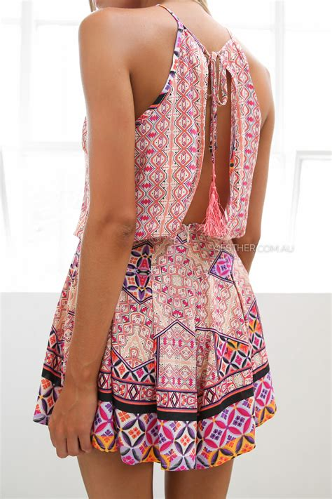 design clothes online australia posy playsuit pink esther clothing australia and