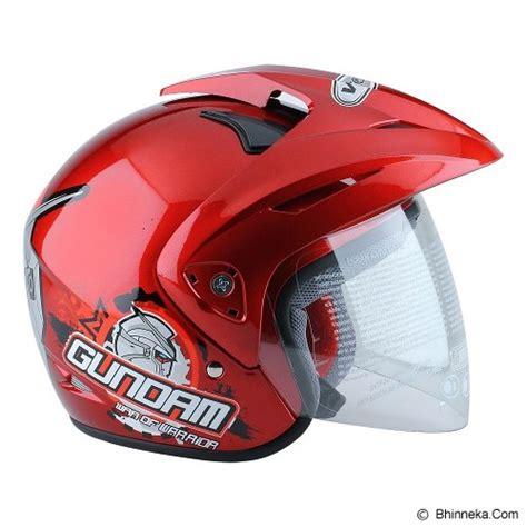 Wto Helmet Pet Gundam 3 Merah Helm Anak jual wto helm anak gundam 3 size m merah murah bhinneka