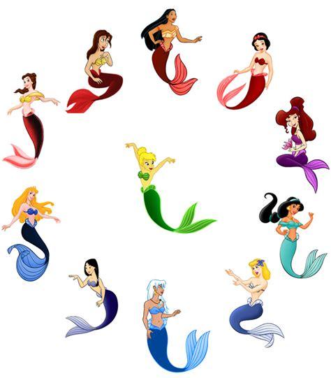 Disney Bubbles S Mermaid Colorwheel Art Manipulated By Pictures Of Disney Princesses As Mermaids