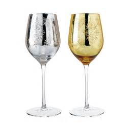 luxury wine glasses luxury golden and silver carved crystal wine glass in pair