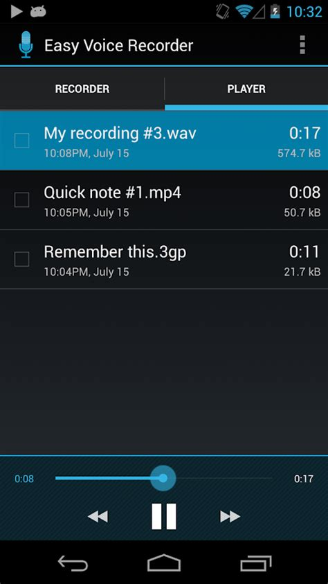 android recorder easy voice recorder android apps on play
