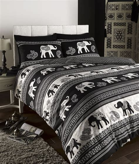 details about empire indian elephant animal print king bed