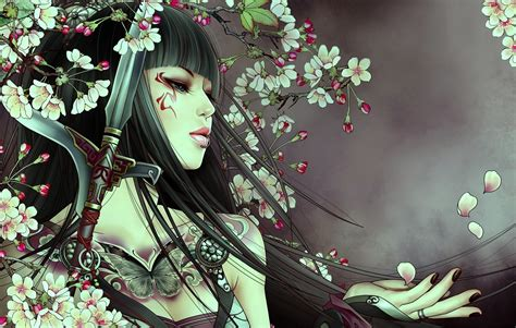 anime girl tattoo wallpaper samurai girl with tattoo wallpapers and images