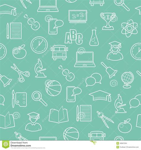 pattern background science seamless education and science background stock vector