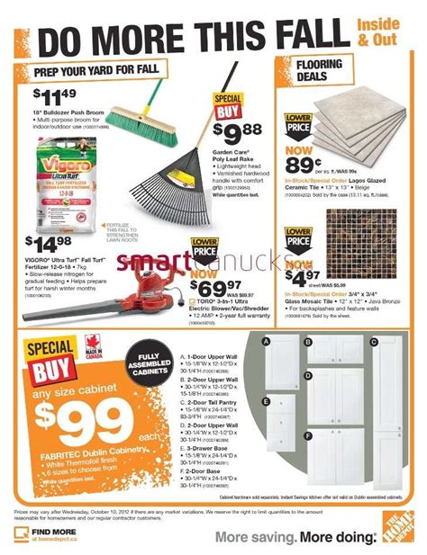 home depot flyer oct 4 to 10