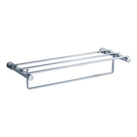 Chrome Towel Racks by Gatco Hotel Style Towel Rack In Chrome 1537 The Home Depot
