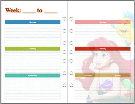 printable disney day planner 1000 images about planner pages on pinterest disney