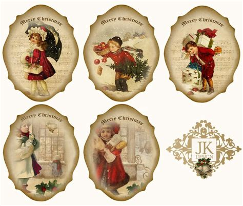 Free Printable Vintage Ornaments | free digital vintage christmas tags svg files and other