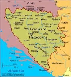 Bosnia World Map by Map Of Bosnia And Herzegovina Capital Sarajevo 2000