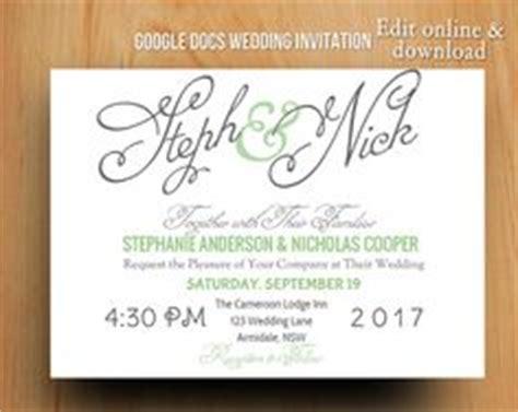 wedding invitations templates for google docs 1000 images about google docs templates on pinterest