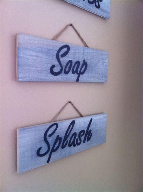 diy bathroom signs bathroom diy signs household ideas pinterest