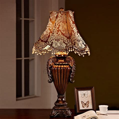 Vintage Bedroom Lighting Vintage Fabric Shade Resin Base Antique Ls For Bedroom
