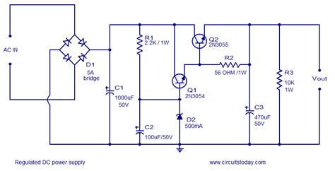 schematic diagram of regulated power supply maglevbakb regulated power supply circuit