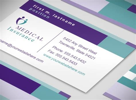 Health Medical Insurance Company Business Card Templates Mycreativeshop Com Insurance Business Card Templates