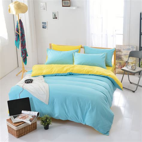 Solid Yellow Comforter by Get Cheap Solid Yellow Bedding Aliexpress
