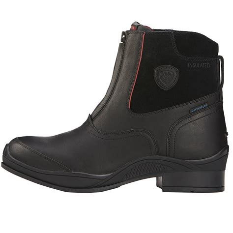 mens paddock boots ariat zip paddock h20 insulated mens boots black