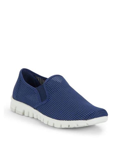 nosox wino mesh slip on sneakers in blue for navy