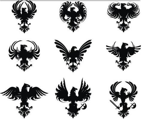 heraldic dragons illustration vector