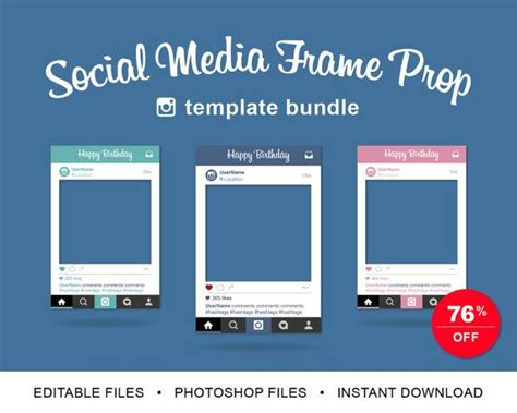 17 Best Images About Projects To Try On Pinterest Facebook Template Site And Chocolate Shop Social Media Photo Prop Template