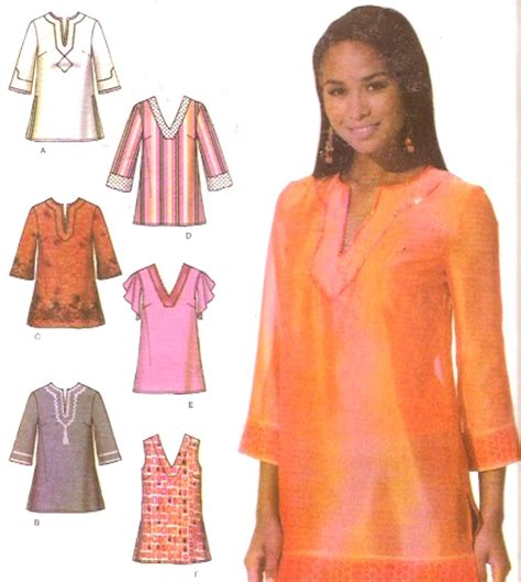 best sewing patterns boho chic tunic top blouse sewing pattern simplicity 4659