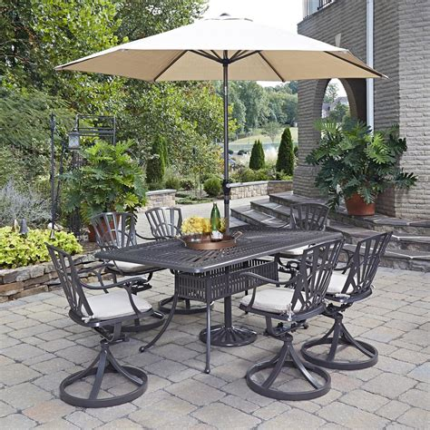 patio set umbrella home styles harbor 40 in 5 slate tile top