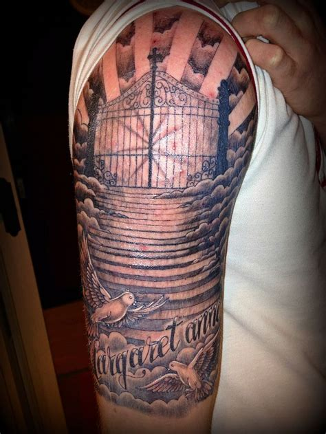 religious half sleeve ideas tattoos religious sleeves and