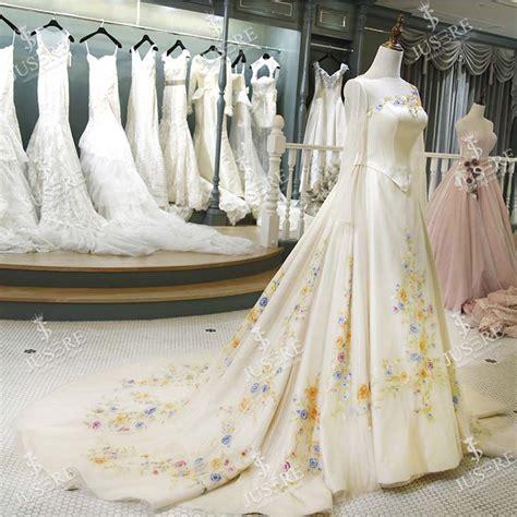 cinderella film wedding dress jusere 2017 fairy tale scoop women basque embroidery long