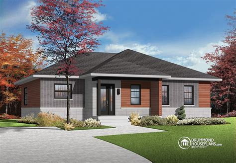 modern bungalow floor plans house plan of the week quot home serene home quot drummond house plans