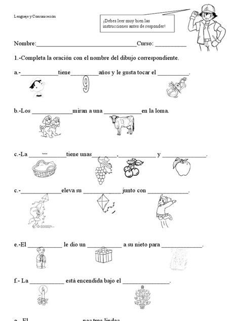 actividades para ninos de espanol primaria completar oraciones
