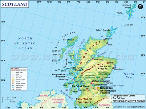 show map of with cities scotland map detailed map of scotland uk