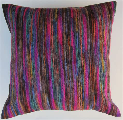 Roundhand Sweater Purple Fanta Grey purple pillow multi color magenta purple teal brown blue
