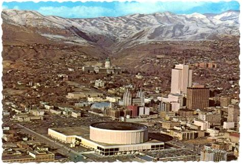 UTAH Salt Lake City   Birds Eye View   1970s (7051)