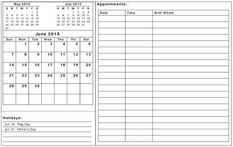Calendar Template Docs 2015 Summer Calendar 2015 Template June 2015 Calendar Template