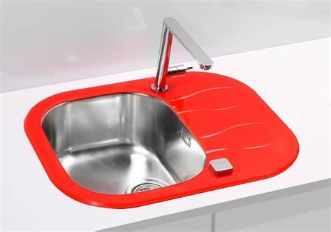 red kitchen sink glass kitchen sink violet red white black yellow