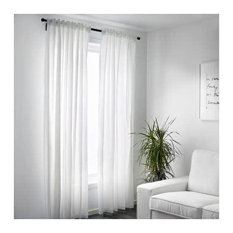 ikea curtains vivan vivan curtains 1 pair white 145x300 cm ikea