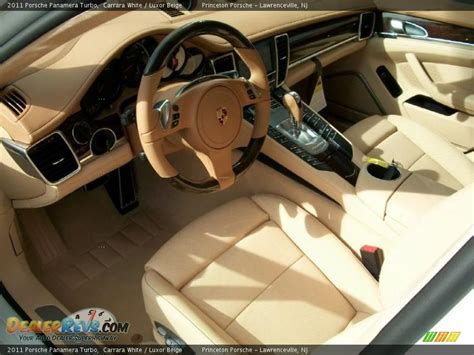 Porsche Panamera White Interior by Luxor Beige Interior 2011 Porsche Panamera Turbo Photo
