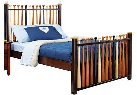 twin bed rooms to go batter up cherry 3 pc full baseball bed beds dark wood