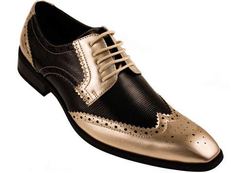 dress shoes gold amali mens two toned black and metallic gold dress shoe