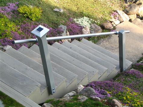 Handrails For Steps Outdoors added handrails to outdoor stairs to satisfy home